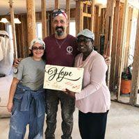 Hurricane volunteers