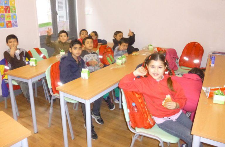 Children snack distribution
