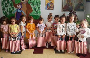 Kids with school kits